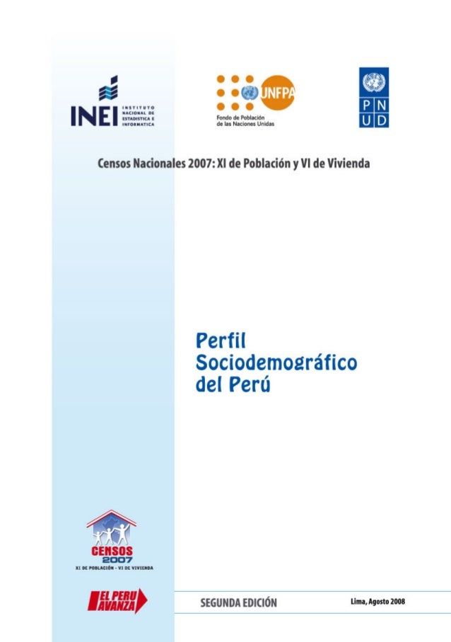 Perfil Sociodemográfico del Perú    Créditos    DIRECCIÓN Y SUPERVISIÓN    Rofilia Ramírez Ramírez    Gaspar Morán Flores ...