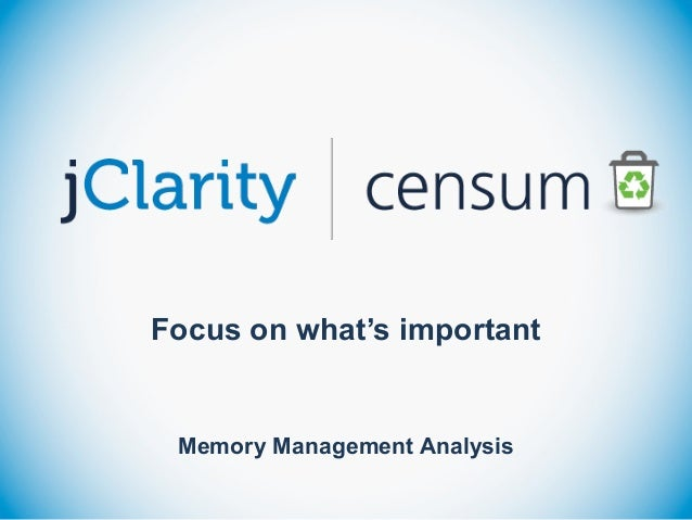 Focus on what's important ! Memory Management Analysis