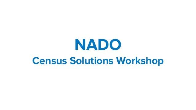 NADO Census Solutions Workshop
