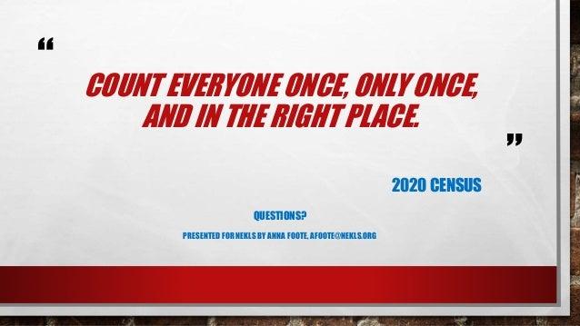 Census 2020 webinar