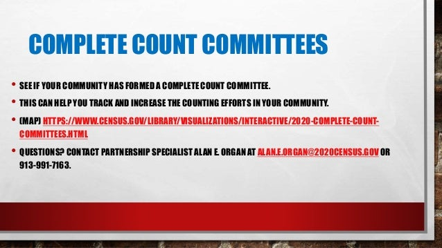 STATEWIDE COMPLETE COUNT COMMITTEE Eric Norris, Kansas State Librarian, and Robin Newell, Executive Director of the Empori...
