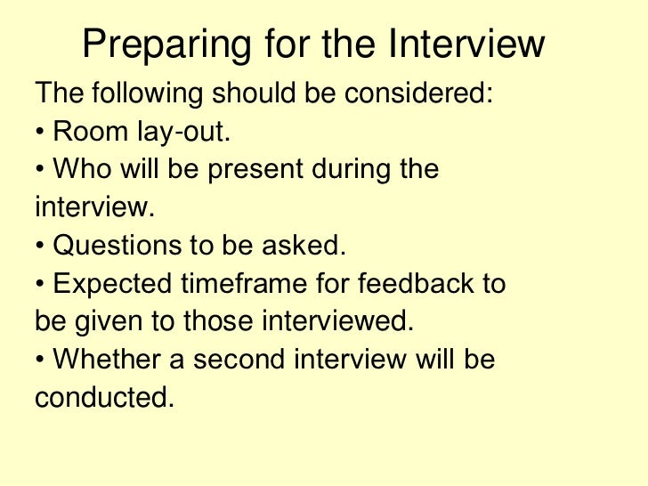 preparing for second interview