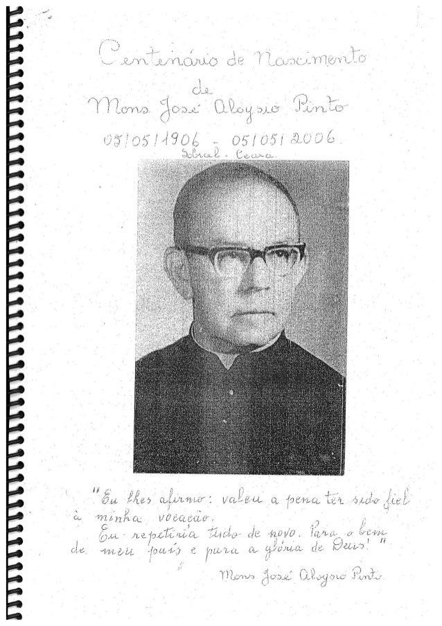 Centenário do Nascimento de Mons. Aloysio Pinto