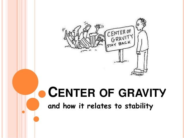 CENTER OF GRAVITY and how it relates to stability