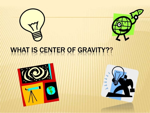 Gravity powerpoint presentation template.