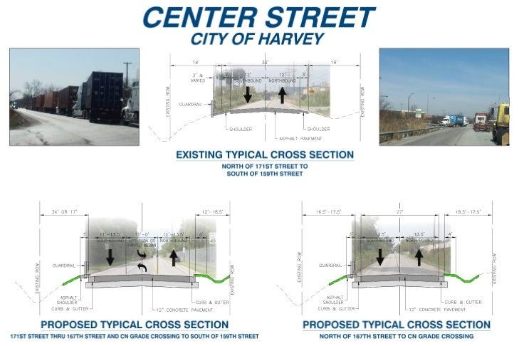 Center Street Cross Sections