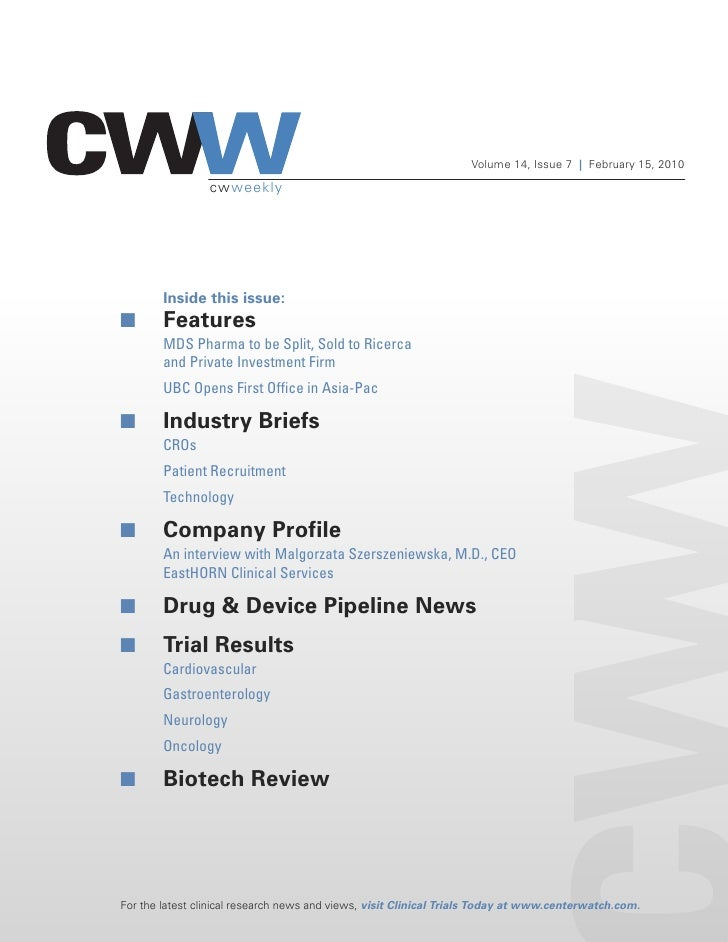 Volume 14, Issue 7 | February 15, 2010                   cwweekly             Inside this issue: I       Features         ...