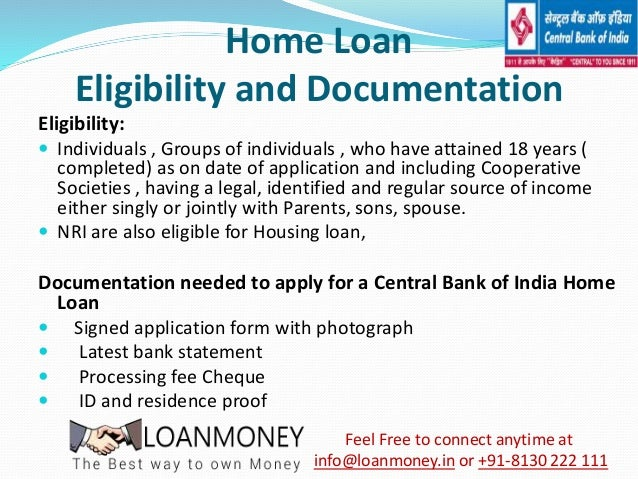 home loan from central bank of india