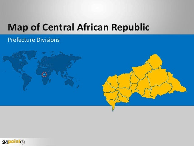Map of Central African Republic Prefecture Divisions
