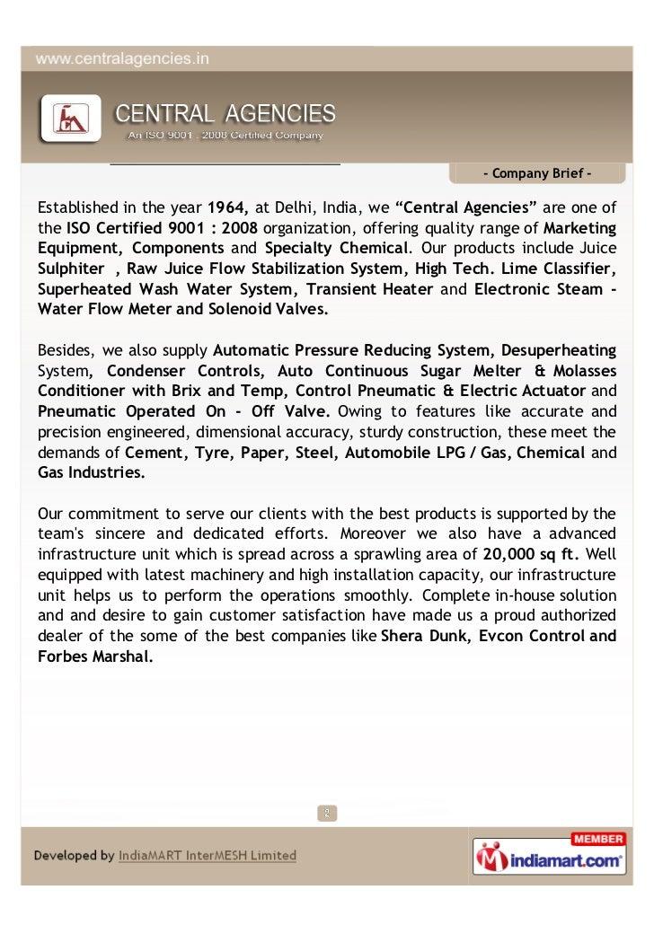 Central Agencies, Delhi, Sugar Industry Slide 2