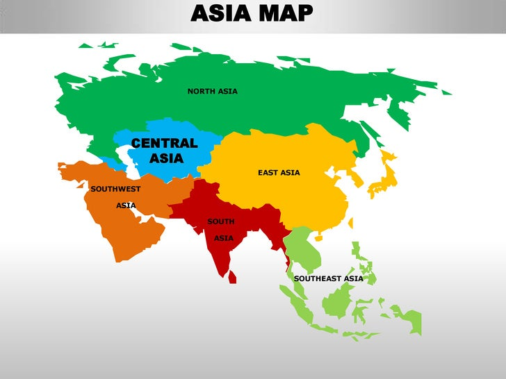 ASIA MAP NORTH ASIA CENTRAL ASIA ...