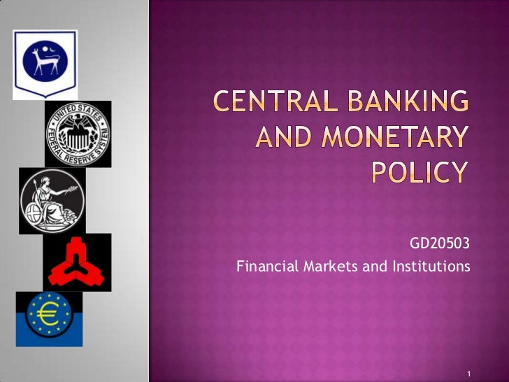 GD20503Financial Markets and Institutions                                 1