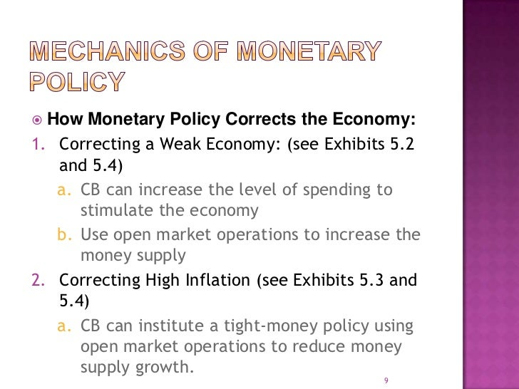 finmgmt2 monetary policy central bank Description this book presents an introduction to central banking and monetary policy we, the public, accept the following as money (m) (that is, the means of payments / medium of exchange): notes and coins (n&c) and bank deposits (bd.