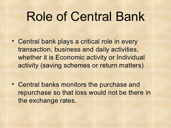 role of central bank europe A look inside two central banks: the european central bank and the the role of the central bank had evolved to focus primarily on providing stability in banking and european central bank 4 first, it examines the struc.