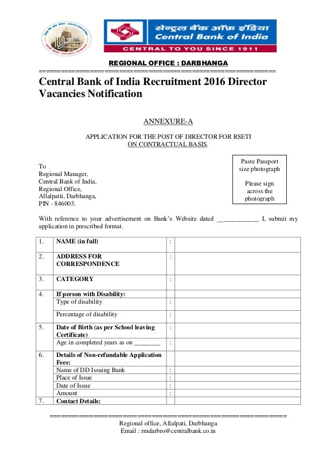 bank of india recruitment 2016 for ca