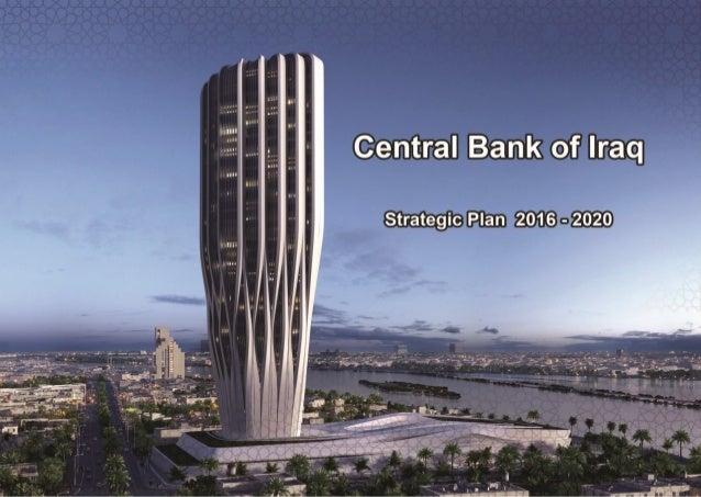 Bank of Iraq Strategic Plan 2016-2020 Translated