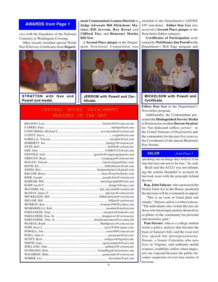 Central bucks detachment marine corps league august 2010
