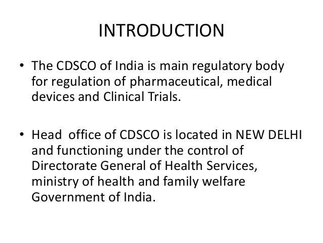 Central drug standard control organisation Slide 2