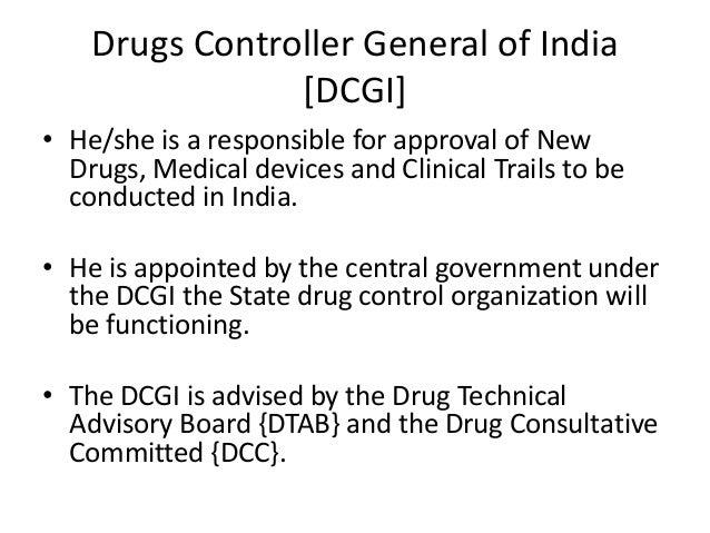 Central drug standard control organisation Slide 3