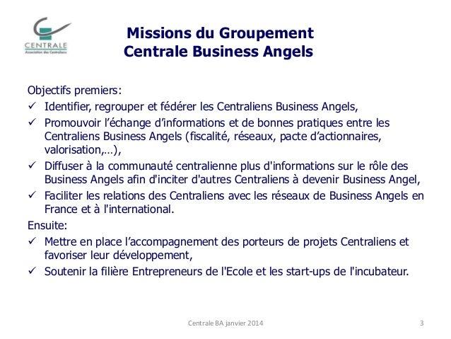 Centrale Business Angels - Jan 2014 Slide 3