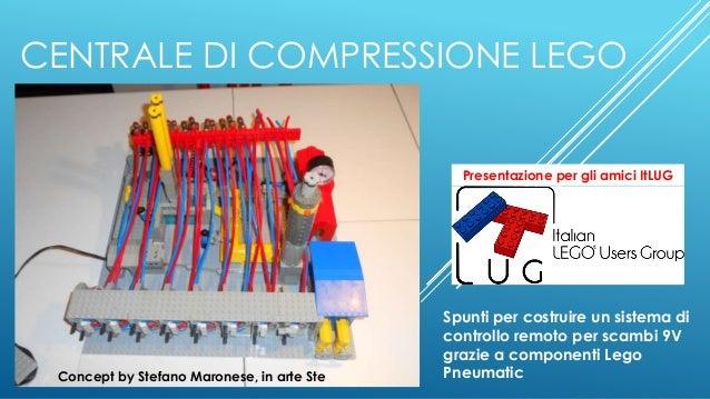 CENTRALE DI COMPRESSIONE LEGO Spunti per costruire un sistema di controllo remoto per scambi 9V grazie a componenti Lego P...