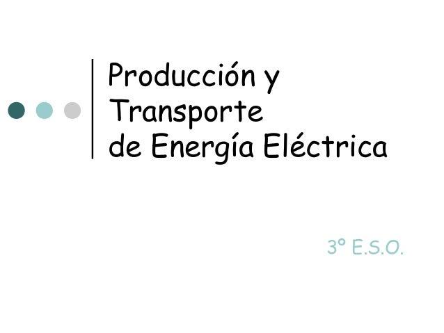Producción yTransportede Energía Eléctrica               3º E.S.O.