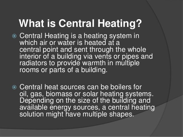 Central steam heating system