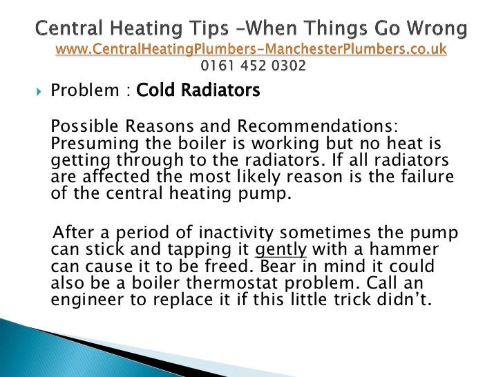 Central heating tips when things go wrong - Common central heating problems ...