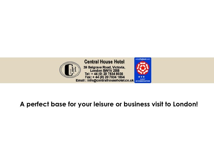 A perfect base for your leisure or business visit to London!