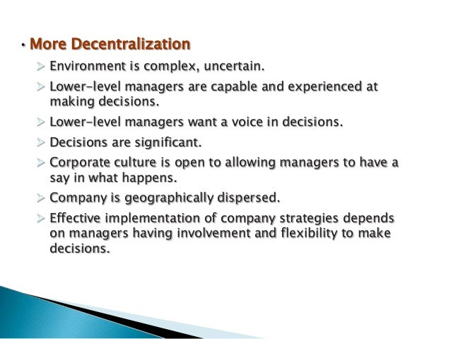 advantages and disadvantages of centralization and decentralization pdf