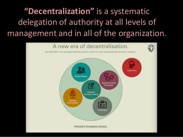 centralized and decentralized organizations essay Organizations throughout the world have encountered the dilemma of going with  centralized or decentralized organizational structures this happens especially.