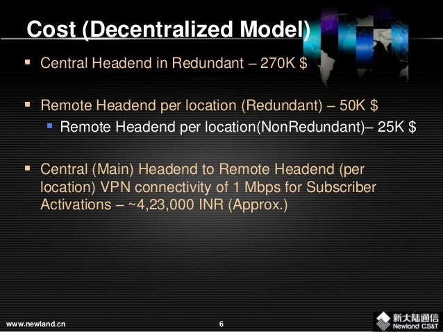 Newland proposition - Centralized Architecture