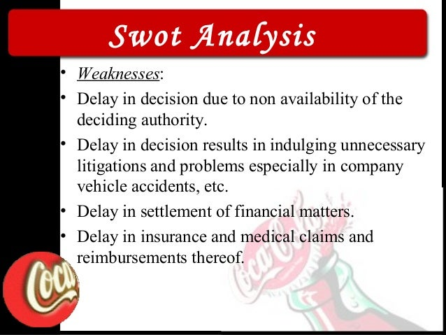 swot analysis of coca cola india Swot analysis pepsico intense competition – the coca-cola company is pepsico's primary in 2008 a strike in india shut down production for nearly an.