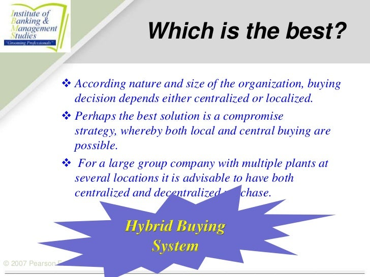 Centralized Vs Localized Buying