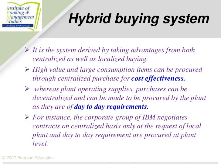 decentralized purchasing system