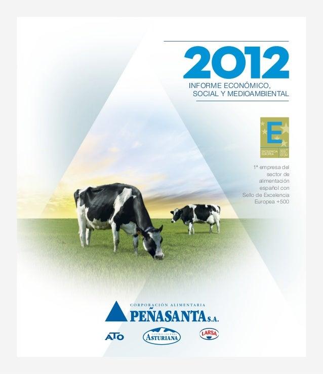 1ª empresa del sector de alimentación español con Sello de Excelencia Europea +500 INFORME ECONÓMICO, SOCIAL Y MEDIOAMBIEN...
