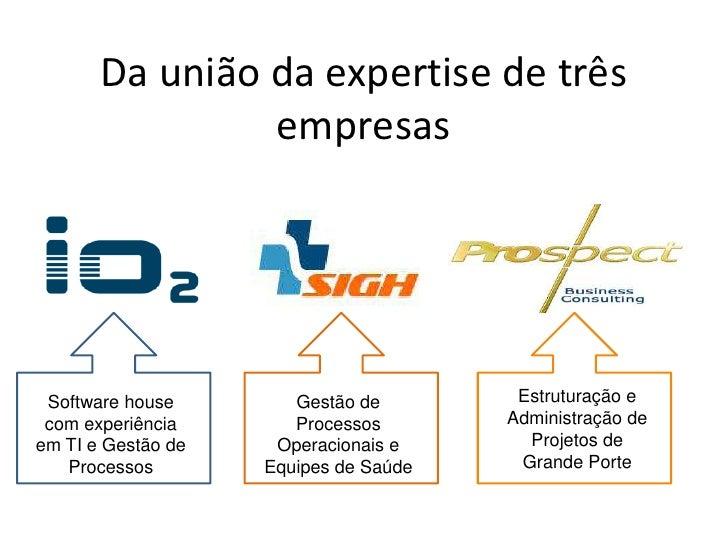 Da união da expertise de três empresas<br />Estruturação e Administração de Projetos de Grande Porte<br />Software house c...
