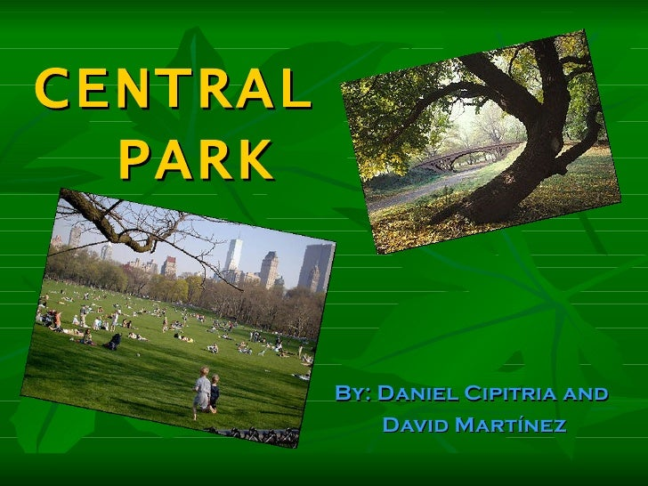 CENTRAL  PARK          By: Daniel Cipitria and              David Martínez