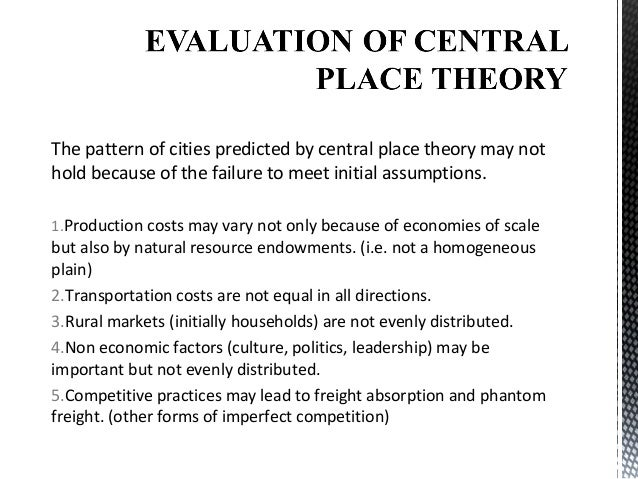 central place theory of christaller