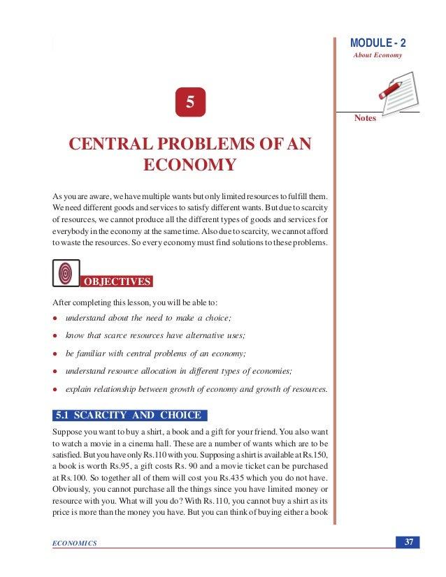 central economic problem
