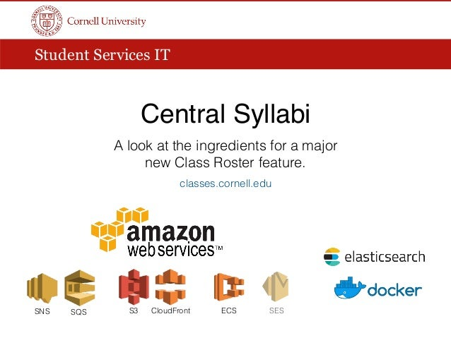 Student Services IT Central Syllabi A look at the ingredients for a major new Class Roster feature. classes.cornell.edu EC...