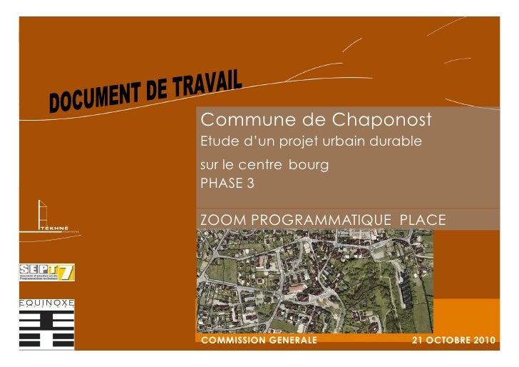 Commune de Chaponost - Étude d'un projet urbain durable sur le centre bourg 1                                             ...