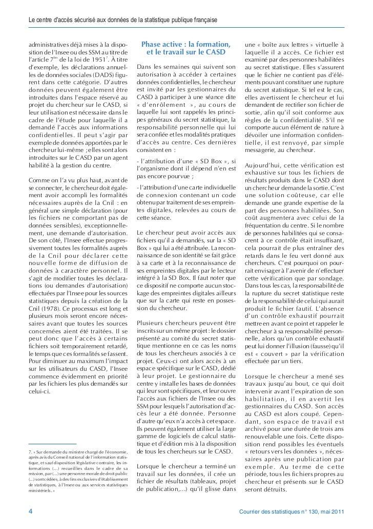 Le centre daccès sécurisé aux données de la statistique publique françaiseadministratives déjà mises à la dispo-          ...