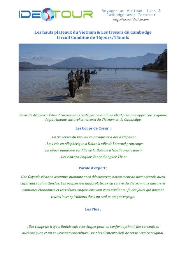 Voyager au Vietnam, Laos & Cambodge avec I...