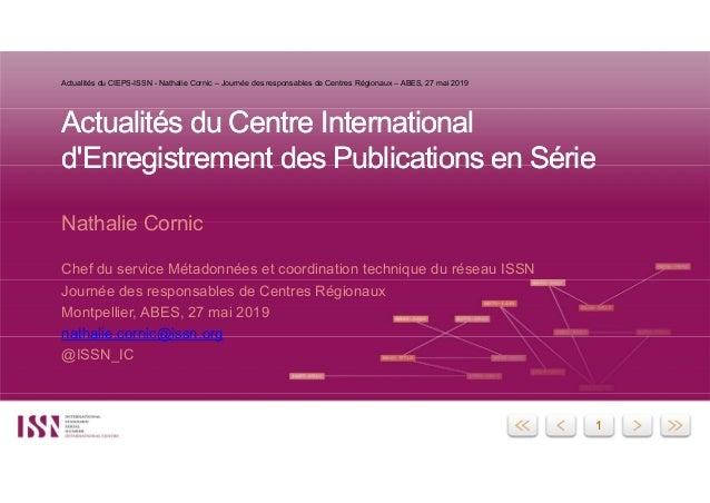 11 Actualités du Centre International d'Enregistrement des Publications en Série Actualités du Centre International d'Enre...