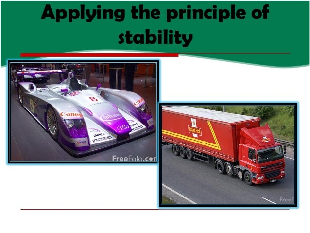 Applying the principle of stability