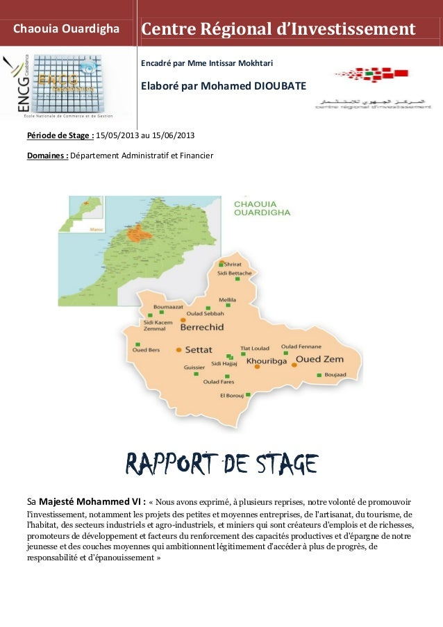 Période de Stage : 15/05/2013 au 15/06/2013 Domaines : Département Administratif et Financier RAPPORT DE STAGE Sa Majesté ...