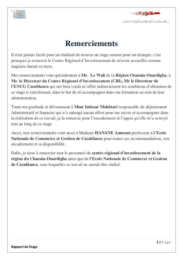 Lettre De Remerciement Pour Un Rapport De Stage - Template ...