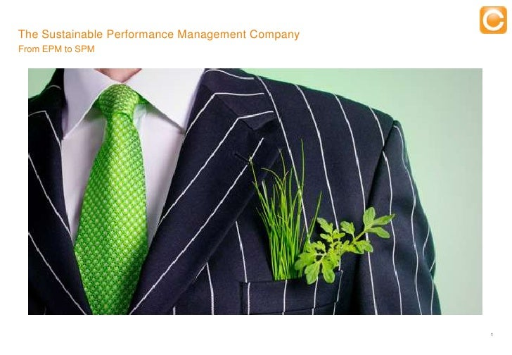 The Sustainable Performance Management CompanyFrom EPM to SPM                                                   Training  ...