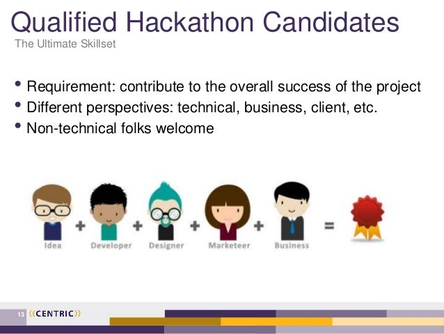 Qualified Hackathon Candidates • Requirement: contribute to the overall success of the project • Different perspectives: t...